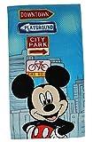 Unbekannt Badetuch Mickey Mouse 70 cm * 140 cm Handtuch groß Strandtuch Baumwolle - Jungen / Mädchen Maus Micky 70x140 für Kinder Badehandtuch Disney blau