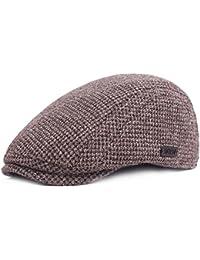 MAOZIX Sombrero de Espiga de Algodón para Hombre Gorras de Boina Ajustables  Sombrero de Pico de Pato Plano Gorros de Boina… d24b2e237bb
