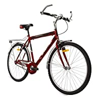 """SPARTAN 26"""" Challenger Single Speed Mountain Bicycle MTB - Red"""