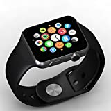 A1 Bluetooth Smart Watch With Camera And Sim Card Support Compatible With Samsung Galaxy S9 Plus By Eaanu (Black)