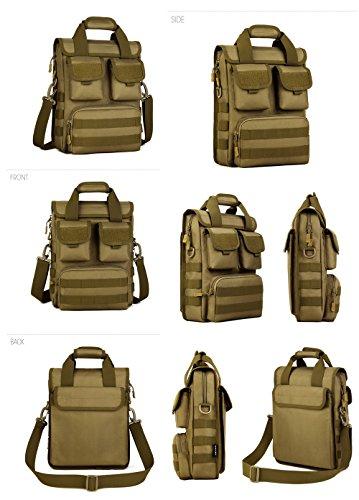 FLYHAWK Taktisch Molle Beutel Schulter Tasche, Rucksack Handtasche Umhängetasche mit Gurt K316-Schwarz