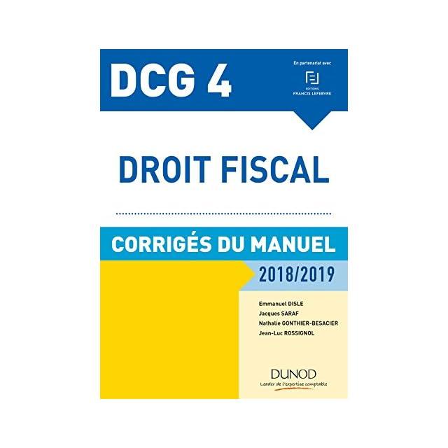 Dcg 6 Finance Dentreprise 7e éd Corrigés Du Manuel