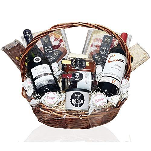räsentkorb - Geschenkkorb Spanien Tapas und Rotwein Rioja, Geschenk für Männer und Frauen ()