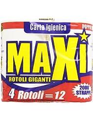 Maxi Carta Igienica in Pura Ovatta di Cellulosa - Pacco da 4 Rotoli