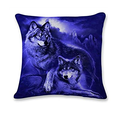 Clearance! Cheap Cushions, Kavitoz 3D Cute Wolf Sofa Bed Home Decoration Festival Pillow Case Cushion Cover - low-cost UK light store.