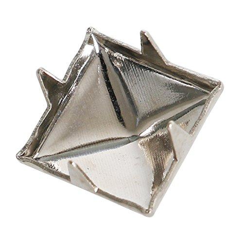 TRIXES 200 pz Borchie piramidali da abbigliamento color argento 7 mm rivetti in nichel pelletteria punk