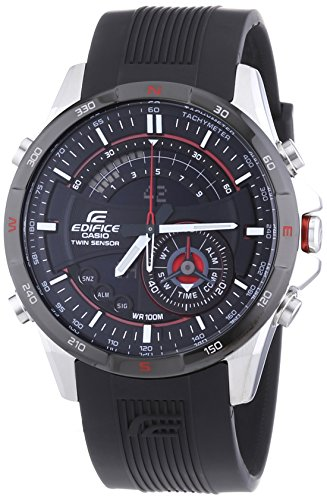 Casio Herren-Armbanduhr XL Edifice Premium Chronograph Quarz Resin ERA-200B-1AVER
