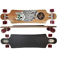 Maxofit Deluxe Longboard Silver Bird 14, 103 Cm Di Bambus Multi-Strato - Azione Longboard Skateboard