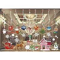 sinwind Navidad ventanas pegatinas, adhesivo decorativo PVC Ventanas imágenes Navidad ventanas y pantalla decoración navideña