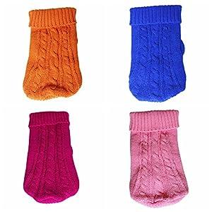 Wodery Chiot Chandail de Chien d'hiver de Coton Coat Warm Sweater Vêtement Chaud pour Les Chiens Cat, XS/S/M/L/XL