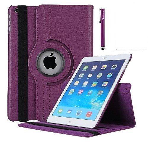 iPad Mini Fall 360Grad Drehbar Ständer Schutzhülle mit meijie Sleep/Wake Funktion für 20,1cm Schutzhülle für Apple iPad Mini 1/iPad Mini 2Fall/iPad Mini 3Fall Violett