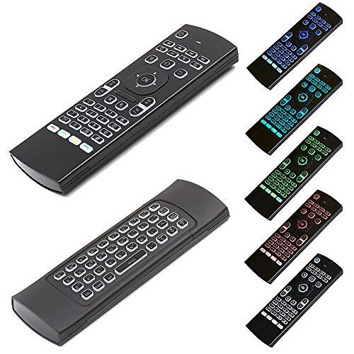 DOGZI Universalfernbedienung von One for All TV Videorecorder, Set Top Box, DVD Blu-ray Player - 2.4G Fernbedienung Air Mouse Wireless Tastatur für XBMC Android Mini PC TV Box