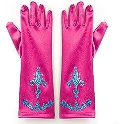 Katara - Guantes de princesa para niñas de 2 - 9 años, accessorio para vestido de disfraz, para Halloween, carnaval o fiesta de cumpleaños - pink