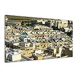 Häuser Flachdächer Bebauung Stadt Gebäude Leinwand Poster Druck Bild aa4005 40x30