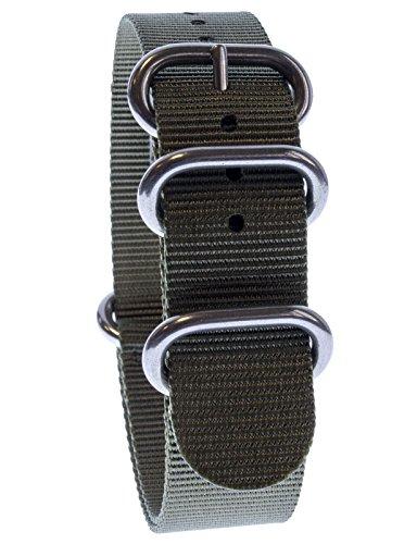 yves-camani-uni-radisson-montres-de-20-mm-de-bracelet-de-lotan-en-nylon-avec-vert-neuf