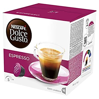 NESCAFÉ Dolce Gusto Espresso Coffee Pods, 16 Capsules (Pack of 3 - Total 48 Capsules, 48 Servings) by Nestle
