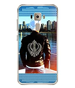 PrintVisa Khanda Sahib High Gloss Designer Back Case Cover for Asus Zenfone 3 ZE552KL (5 Inches)