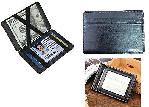be93ffe7206 Takestop® Cartera Hombre mágico billetes tarjetero Porta tarjetas de  crédito en piel Wallet Clip Monedero