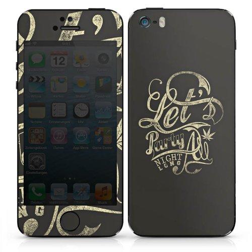 Apple iPhone 4 Case Skin Sticker aus Vinyl-Folie Aufkleber Party Nacht Sprüche DesignSkins® glänzend