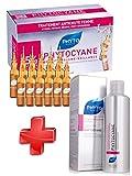 Phyto KIT Phytocyane - Phytocyane Soin Antichute Stimulateur de Croissance Femme 12 Ampoules + Shampooing traitant Densifiant CHUTES DE CHEVEUX 200ml