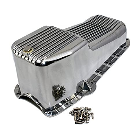 Assault Racing Products A8442 SBC Chevy Finned Polished Aluminum Oil Pan - Small Block 283 305 327 350 by Assault Racing Products