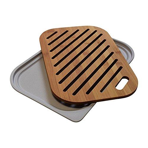 Kitchen Academics - Crumb Catcher Bamboo Cutting Board Crumb-board
