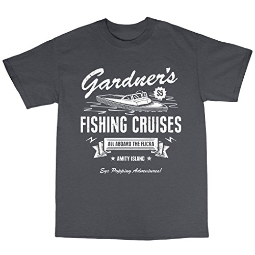 Gardner's Fishing Cruises T-Shirt 100% Baumwolle Kohle
