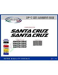 """KIT OF 18 pegatinas para bicicletas """"Santa Cruz"""" Negro negro"""