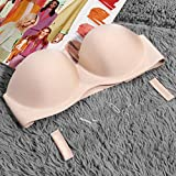 Tellaboull for Sexy Invisible Blade Strapless Seamless Gather Push Up...