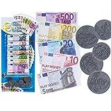 Un jouet amusant et ludique pour apprendre à vos enfants à compter comme avec du véritable argent. Ces pièces et billets peuvent être utilisés dans un but éducatif pour se familiariser avec l'argent en douceur et peu à peu résoudre des problèmes simp...