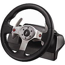 Logitech G25 Racing Wheel - Volante/mando (Ruedas + Pedales, PC, Playstation 2, Alámbrico, 256 MB, 20 MB, CD-ROM)