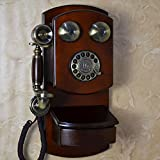 motesuvar Antik europäischen Stil Retro-Telefon, American Home Creative Telefon zum Aufhängen, alte Maschinen, Glocke Drehbares Zifferblatt