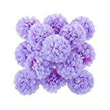 30x Künstlichen Blume Daisy Blumenköpfe Seide Kugelkopf Hochzeit Haus Dekor - violett