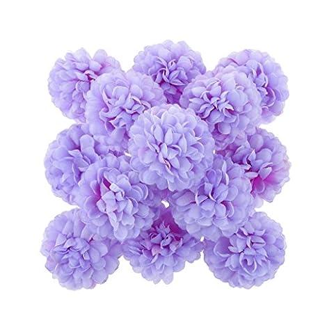 30xDaisy Craft Artificial Flower Silk Spherical Head Wedding Decor - Violet, 160x3cm/63x1.18inch