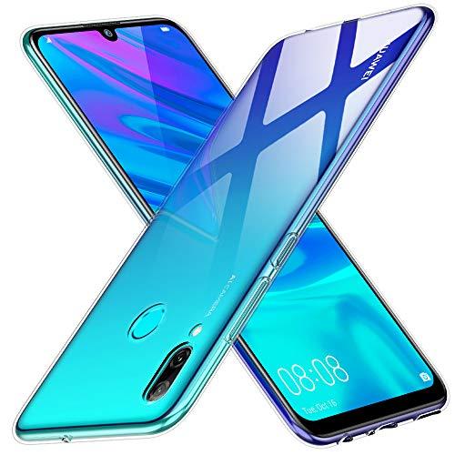 Peakally Huawei P Smart 2019 Hülle, Soft Silikon Dünn Transparent Hüllen [Kratzfest] [Anti Slip] Durchsichtige TPU Schutzhülle Case Weiche Handyhülle für Huawei P Smart 2019-Klar