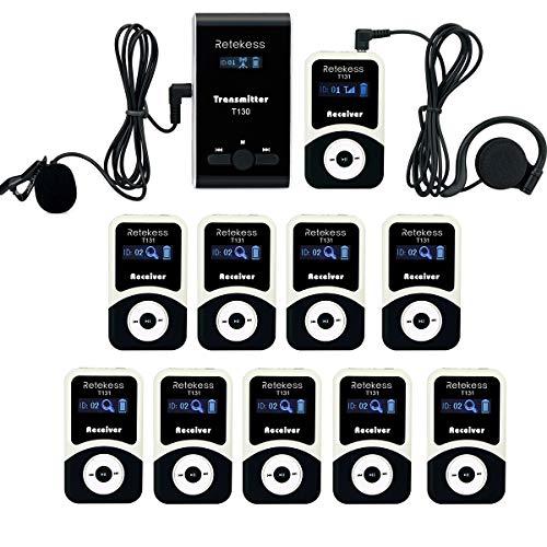 Retekess T130 T131 Tour Guide System Sistema di Guida Microfono Amplificatore di Voce 60M 10H per Riunione Spiegazione Traduzione Scuola