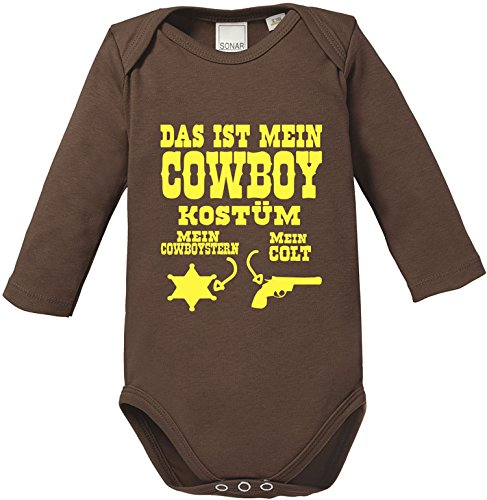 Spieler Cowboy Kostüm - Luckja Das ist mein Cowboy Kostüm Baby Body Longsleeve