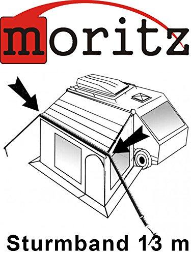 Original Moritz Sturmband 13m Sturmsicherung Spannband für Vorzelt Vordach Dachhalteband