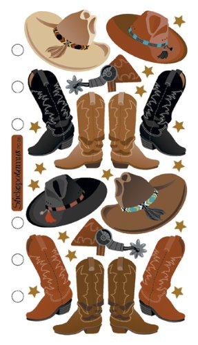 Unbekannt Sticko SPPC08 Classic Aufkleber, Cowboy-Hüte und Stiefel (Cowboy-hut Und Stiefel)