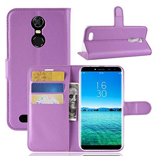 Handyhülle für Oukitel C8 3G,C8 4G 95street Schutzhülle Book Case für Oukitel C8 3G,C8 4G , Hülle Klapphülle Tasche im Retro Wallet Design mit Praktischer Aufstellfunktion - Etui Lila