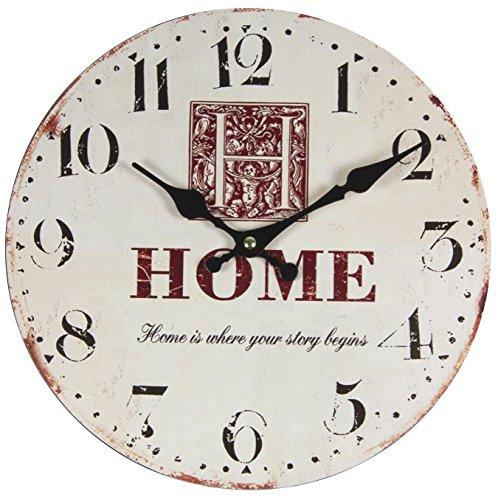 Perla PD Diseño reloj de pared Reloj de cocina vintage diseño Home aprox. 28cm de diámetro