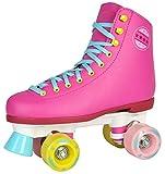 Selltex Kinder Rollschuhe NEU 34 35 36 37 38 39 40 Pink weiß schwarz Discoroller Disco Damen (Pink, 37)