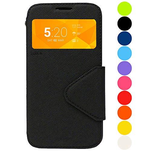 Roar Galaxy Note 8 Tasche Klapphülle Hülle Handyhülle Flip Case mit Fenster, Premium Etui Schutzhülle geeignet für Samsung Galaxy Note 8, Schwarz