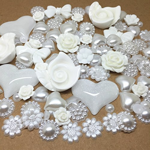 roseys-craft-shops-100-deluxe-white-offwhite-mixed-flatbacks-hearts-roses-round-bows-and