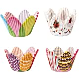 FACILLA® 75 Mixed Petal Muffin Cupcake Paper Cases Liners Cups [Kitchen & Home]