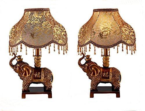Live-harz (Retro Luxus europäischen Harz Elefant Nachtlicht kreative pastorale dekorative Lampe , 350*530)