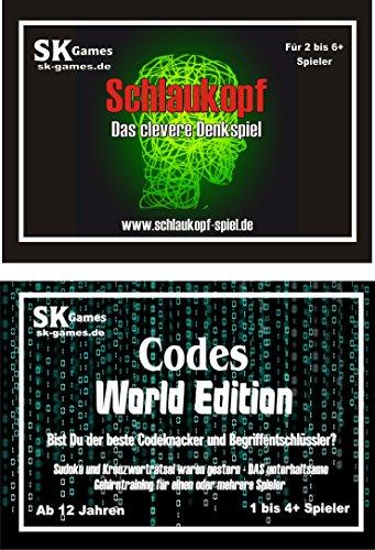 'Schlaukopf - Das clevere Denkspiel' und 'Codes World Edition'