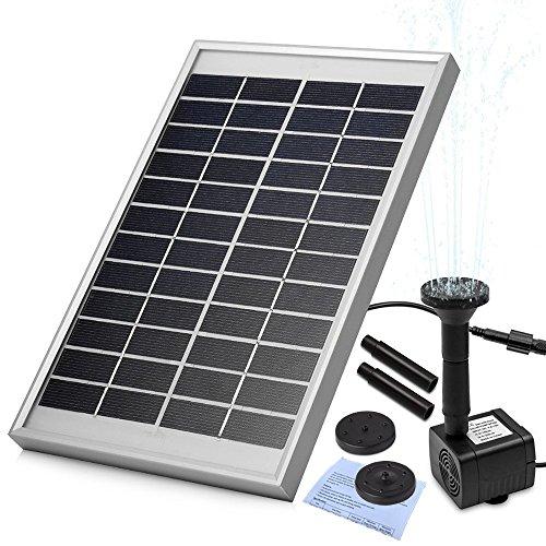 Panel solar: 12V/5W Un voltaje de salida: DC 6-12V De Flujo máximo: 380l/h Elevación máxima: 120cm Max aerosol Altura: 60cm Peso: 1,02kg Panel solar de accesorios: 1pc, 1pc Fuente de agua solar, 8pcs boquillas, 1pc Manual Por favor tenga en c...