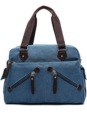 MeCooler Schultertasche Vintage Messenger Bag Umhängetasche Herren Kuriertasche Schule Taschen Retro Herrentaschen...