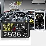 "Lookatool Car LCD 5.5"" HUD Head up Display Over Speed Warning Vehicle OBD2 Speedometers"